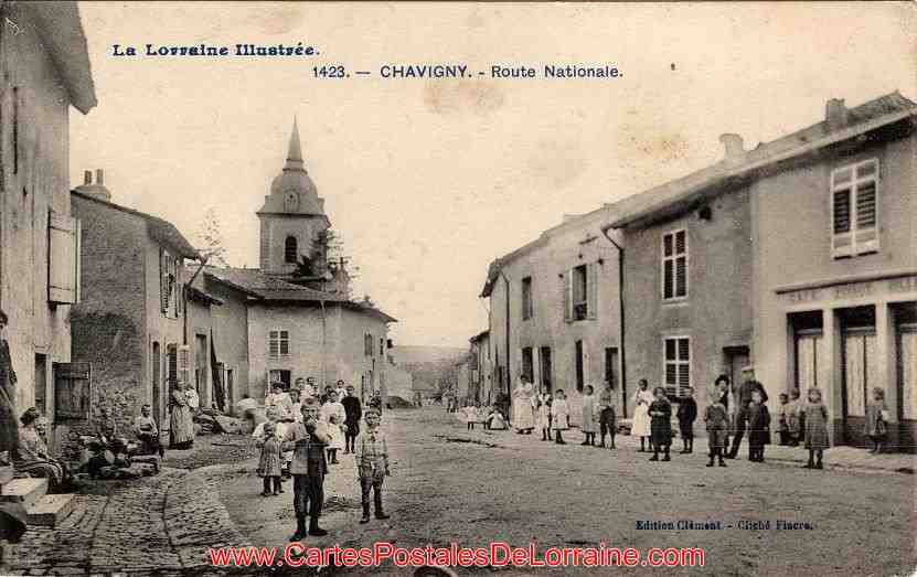 cartes, postales, anciennes, chavigny